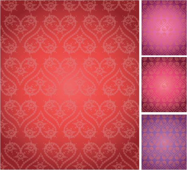 Seamless Elegant Valentine background