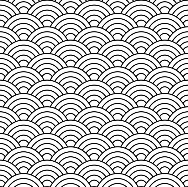 Seamless fish scale pattern (vector) Free vector in Adobe