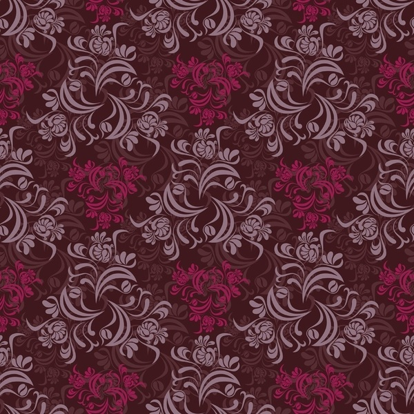 Seamless Floral Background Vector