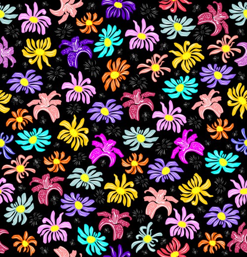 seamless floral pattern beautiful vector