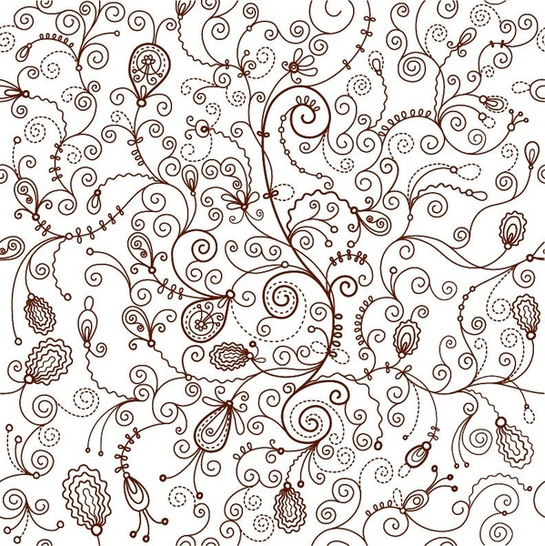 Seamless Floral Vector Background Free Vector In Encapsulated