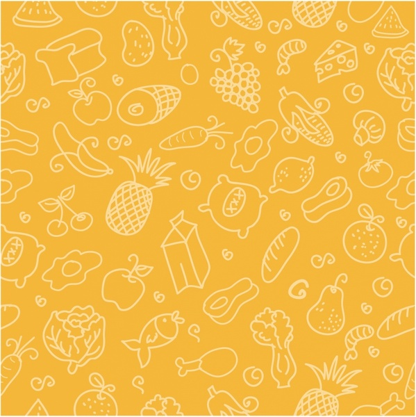 seamless pattern food free vector in adobe illustrator ai ( aiseamless pattern food