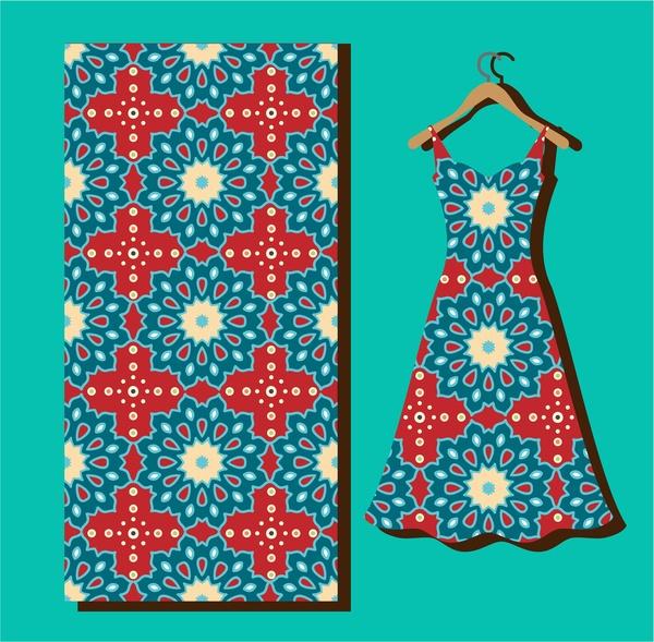 seamless pattern on silk and dress vector illustration