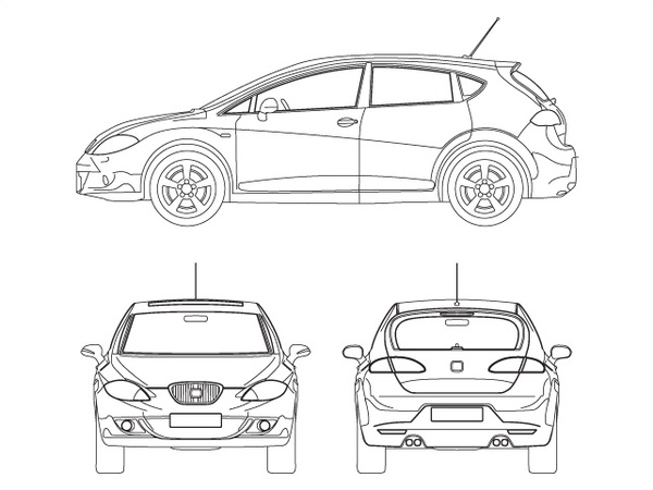seat leon free vector in adobe illustrator ai    ai