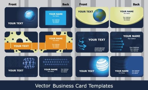 sense of business card templates technology blue 01 vector