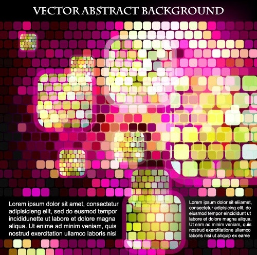 sense of science and technology background grid vector