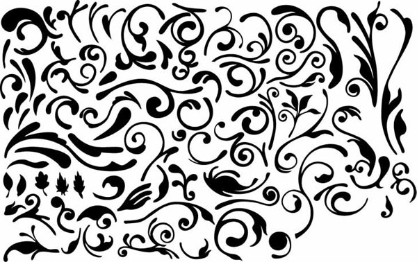 Series Of Black And White Design Elements Vector 4 Simple Pattern