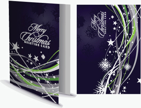 set of13 christmas greeting card vector