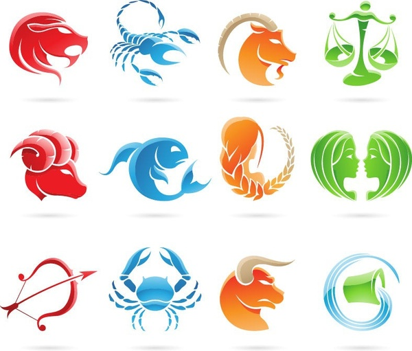 set of 12 zodiac signs vector graphic free vector in encapsulated rh all free download com free eps vector graphics eps vector graphics