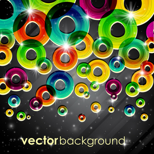 set of abstract colorful background vector