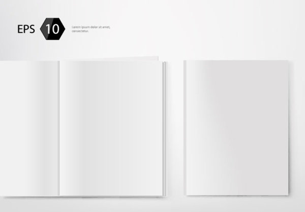 Set of album and magazine template blank page vector free vector in set of album and magazine template blank page vector maxwellsz