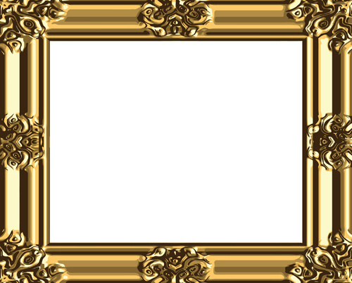 Set of antique gold photo frame elements vector Free vector in ...