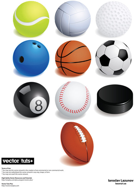 set of ball free vector