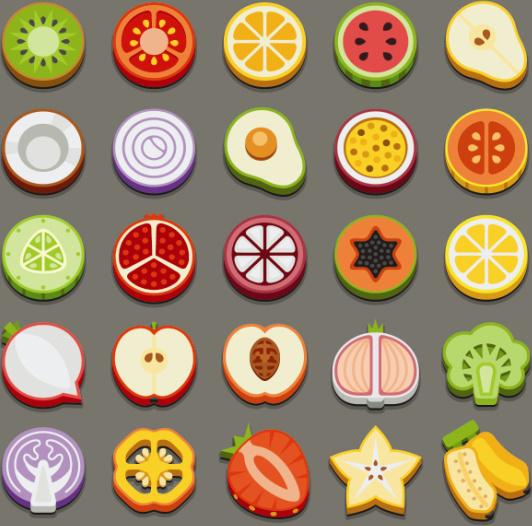 vector healthy food icon free vector download 30155 free