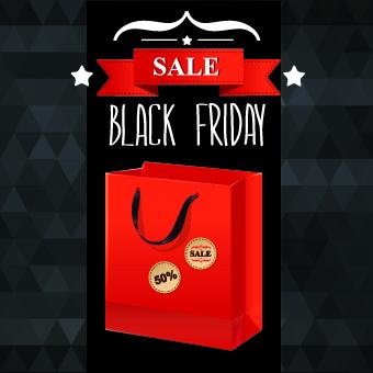 set of black friday sale elements vector