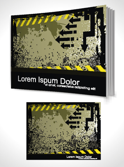 Book Cover Template Coreldraw : Cover page template coreldraw free vector download