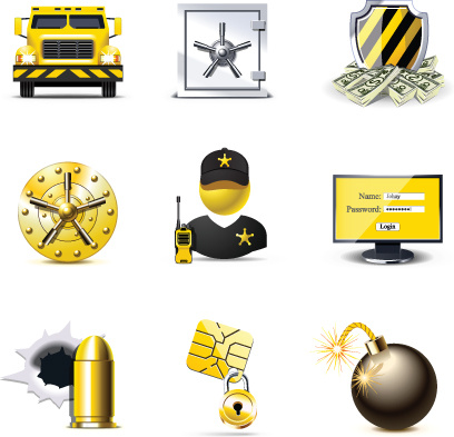 set of business finance icons vector