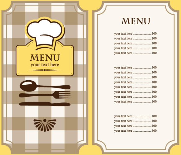 set of cafe and restaurant menu cover template vector free vector in