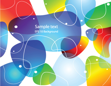set of colored abstract vector backgrounds art