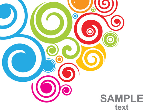 set of colored swirl vector backgrounds art free vector in rh all free download com free swirl vector art swirl design clipart vector