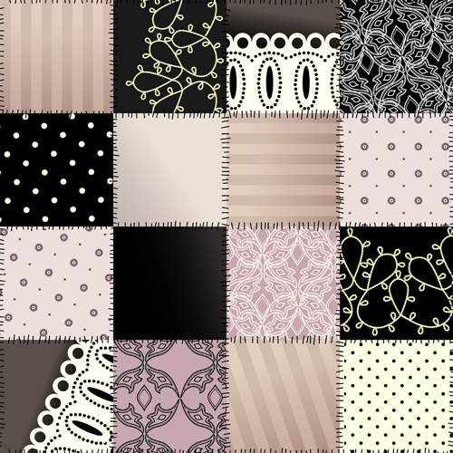 Set Of Different Fabric Patterns Vector Free Vector In Encapsulated Fascinating Different Patterns