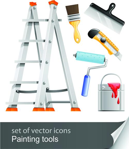 set of different repair tools vector graphics