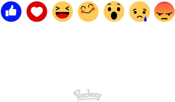 Facebook background wtih emoticons vector | free download.