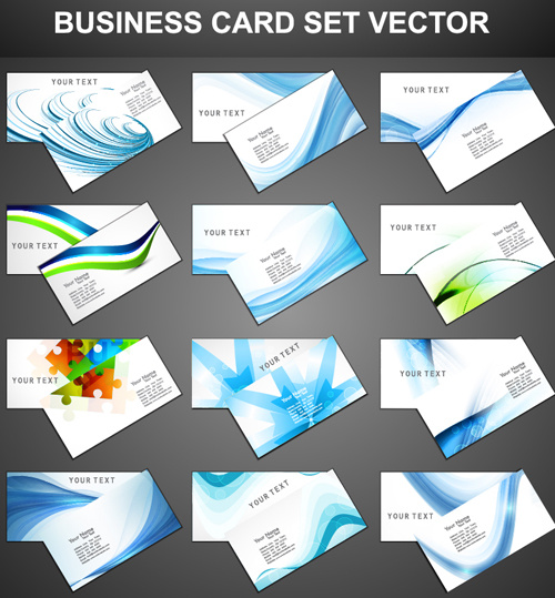 Set of fashion business cards design vector free vector in adobe set of fashion business cards design vector reheart Images