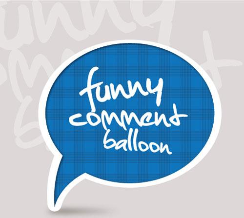 set of funny speech bubbles vector