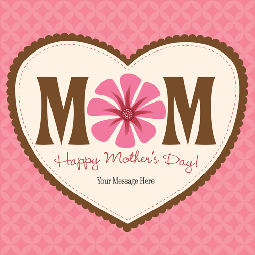 set of happy mother039s day art background vector - Mother039s Day Greeting Card Messages
