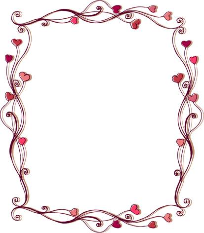 Set of heart frame vector Free vector in Encapsulated PostScript eps ...