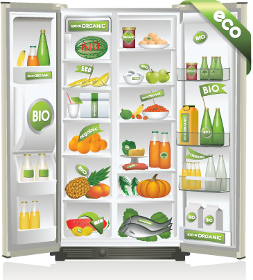Refrigerator free vector download 49 free vector for commercial use format ai eps cdr svg Home decoration vector free