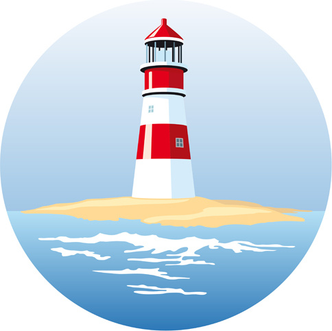 Set of lighthouse vector Free vector in Encapsulated ...