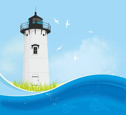 Calendar Web Icon : Lighthouse vector free download