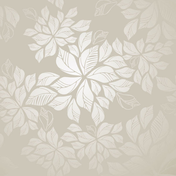 set of modern brown floral pattern vector
