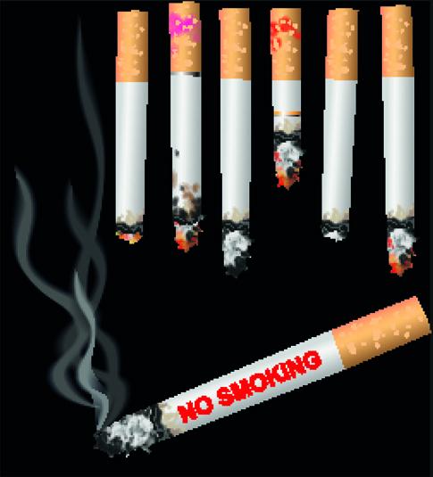 set of no smoking design elements vector