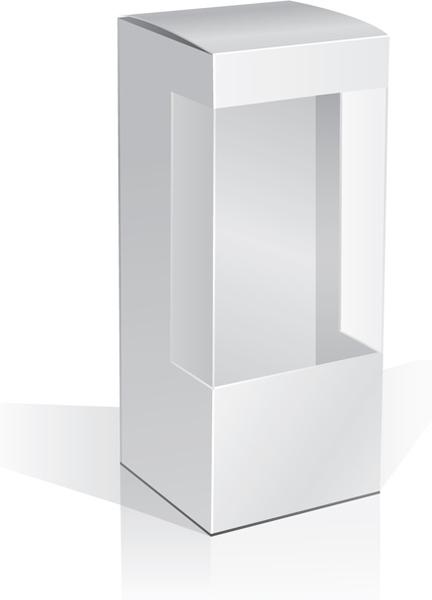 set of paper packaging box design vector