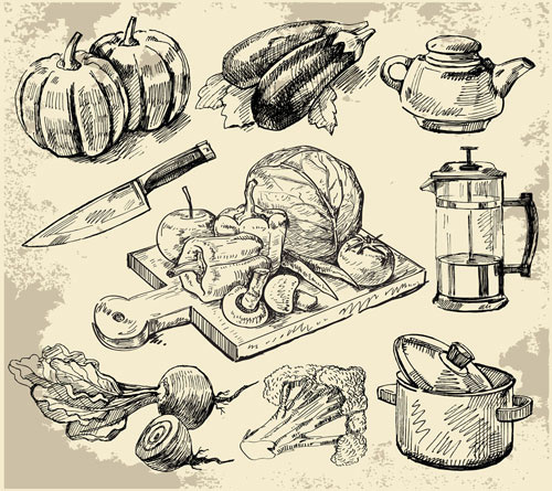 The Kitchen Sink Art Drawing Sketch Sketchbook By: Kitchen Vector Free Vector Download (376 Free Vector) For