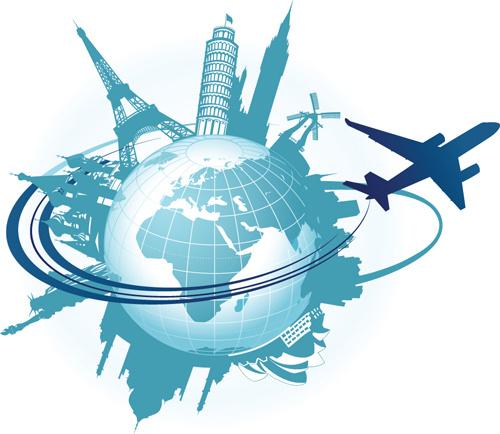 set of tourism elements vector