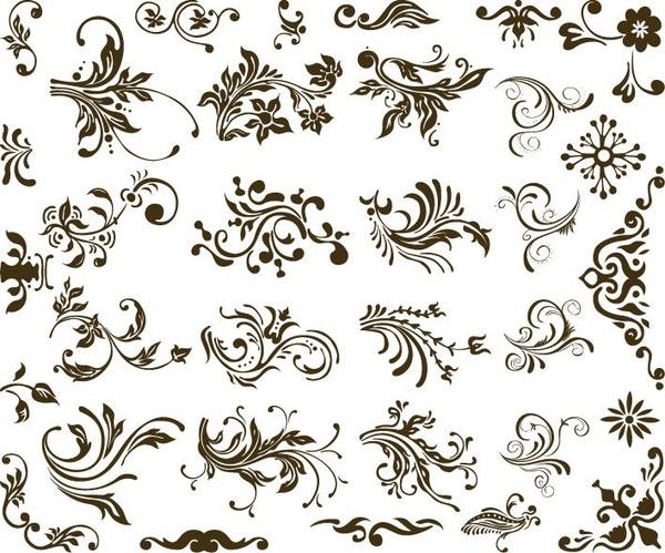 Set Of Vector Floral Design
