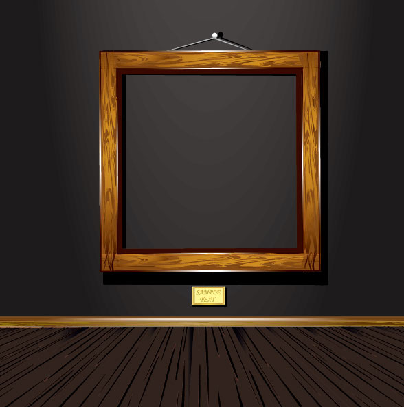 1adceb4fd609 Set of vintage wooden photo frame vector Free vector in Encapsulated ...