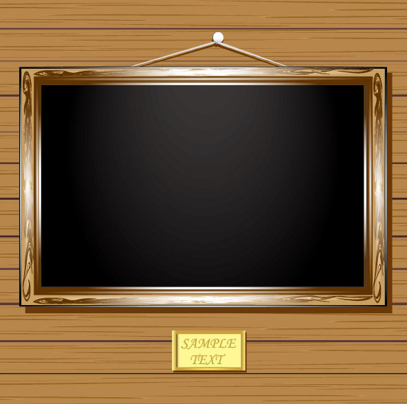 Set Of Vintage Wooden Photo Frame Vector Free Vector In Encapsulated