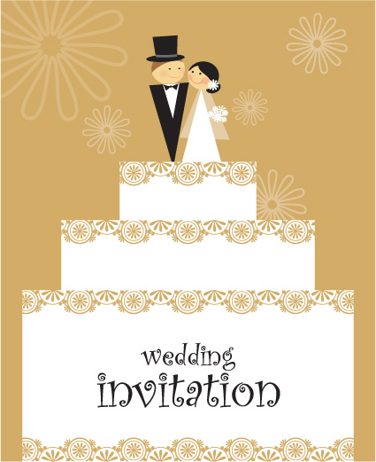set of wedding invitation cards design vector free vector