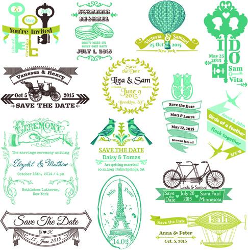 Set Of Wedding Logo Design Elements Vector Free 460MB
