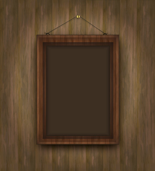 55b229bcb7b3 Set of wooden background with frames vector Free vector in ...