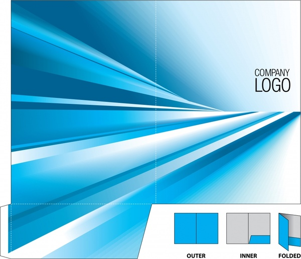 corporate brochure template abstract bright blue light decor