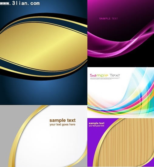 decorative background templates modern colored dynamic curves decor