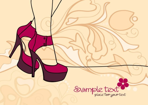 sexy lines beauty illustrator 04 vector
