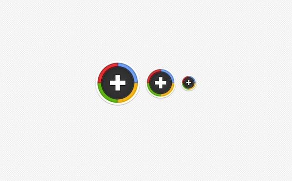 Sexy Round Google Plus Icons PSD