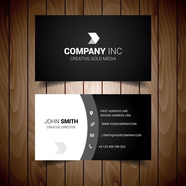 Shades of grey solid corporate business card free vector in adobe shades of grey solid corporate business card reheart Gallery